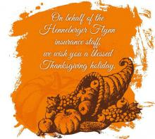 Have a safe and blessed Thanksgiving holiday.